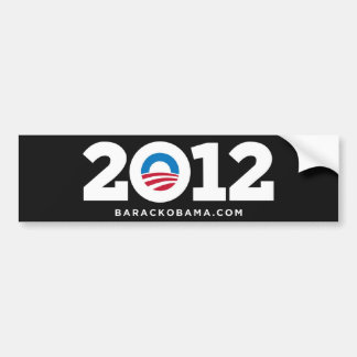 Obama Biden 2012 (Black) Car Bumper Sticker