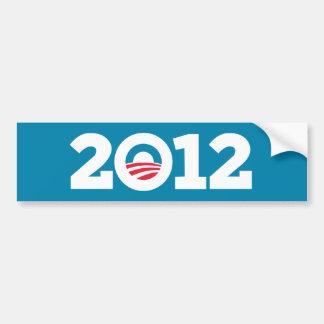 Obama/Biden 2012 (blanco en azul) Pegatina Para Auto