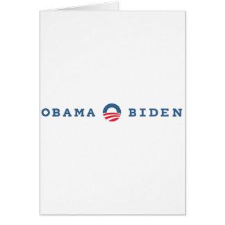 Obama / Biden 2012 Card