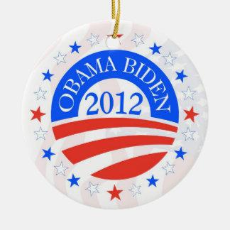 Obama Biden 2012 Ceramic Ornament