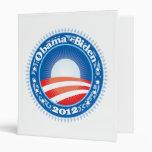 Obama Biden 2012 Circle 3 Ring Binder