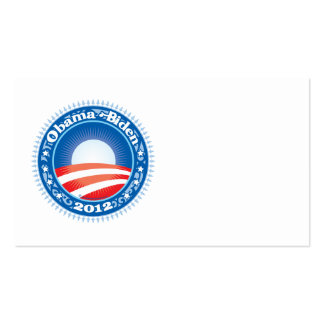 Obama Biden 2012 Circle Double-Sided Standard Business Cards (Pack Of 100)