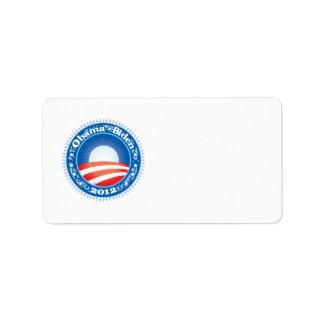 Obama Biden 2012 Circle Label