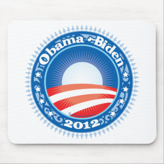 Obama Biden 2012 Circle Mouse Pad