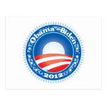 Obama Biden 2012 Circle Postcard