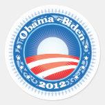 Obama Biden 2012 Circle Round Sticker