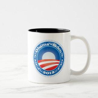Obama Biden 2012 Circle Two-Tone Coffee Mug