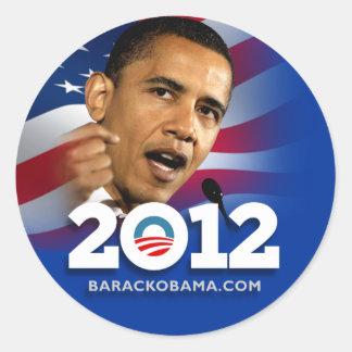 Obama Biden 2012 Classic Round Sticker
