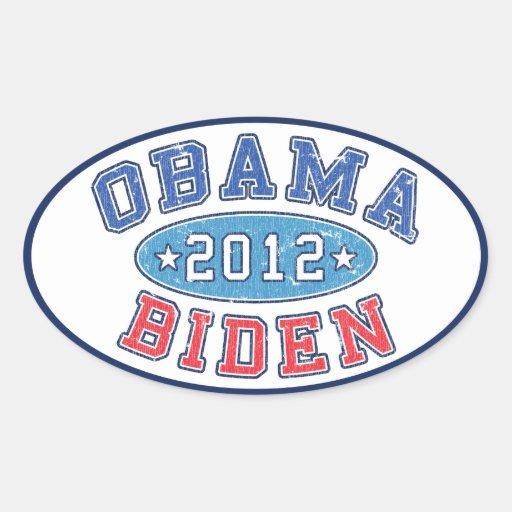 Obama & Biden 2012 Collegiate Election Sticker