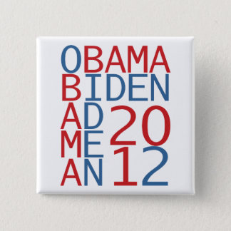 Obama - Biden 2012 cube Button