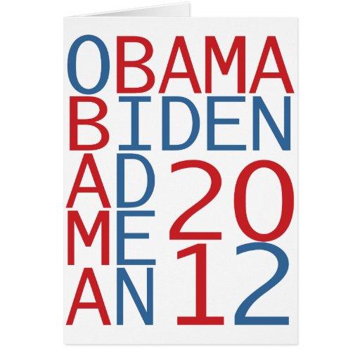 Obama - Biden 2012 cube Greeting Card