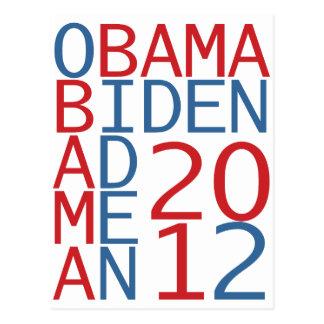 Obama - Biden 2012 cube Postcard