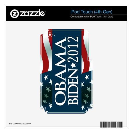 Obama Biden 2012 Decals For iPod Touch 4G