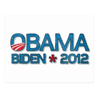 Obama Biden 2012 Dropshadow Blue Postcard