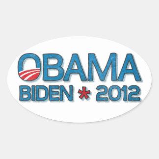 Obama Biden 2012 Dropshadow Blue Sticker