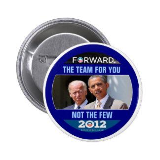 Obama Biden 2012 el equipo para usted Pin