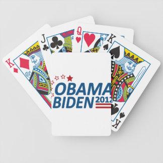 Obama Biden 2012 estrellas Baraja De Cartas Bicycle