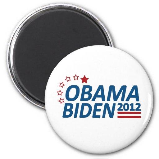Obama Biden 2012 estrellas Iman De Nevera