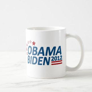 Obama Biden 2012 estrellas Tazas