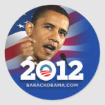 Obama Biden 2012 Etiquetas Redondas