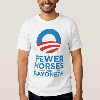 Obama Biden 2012 Fewer Horses and Bayonets T-Shirt