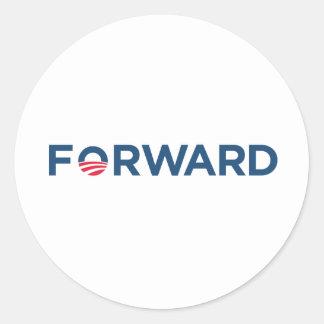 Obama Biden 2012 Forward (Dark Blue ) Classic Round Sticker