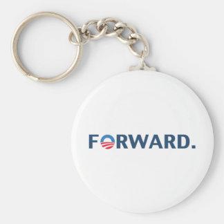 Obama / Biden 2012 Forward Slogan (Dark Blue) Basic Round Button Keychain