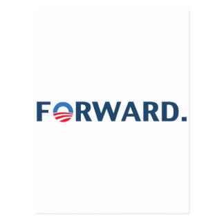 Obama / Biden 2012 Forward Slogan (Dark Blue) Postcard