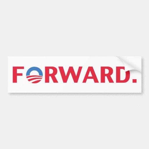 Obama / Biden 2012 Forward Slogan (Red) Car Bumper Sticker