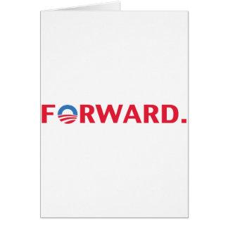 Obama / Biden 2012 Forward Slogan (Red) Card