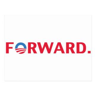 Obama / Biden 2012 Forward Slogan (Red) Postcard