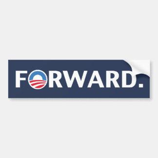 Obama / Biden 2012 Forward Slogan (White on Blue) Bumper Sticker