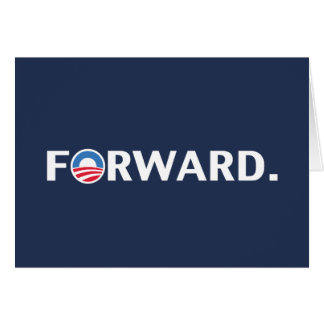 Obama / Biden 2012 Forward Slogan (White on Blue) Card