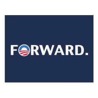 Obama / Biden 2012 Forward Slogan (White on Blue) Postcard