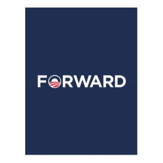 Obama Biden 2012 Forward (White on Dark Blue) Postcard