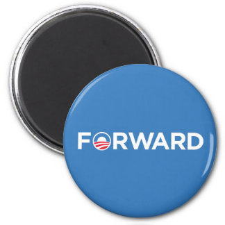 Obama Biden 2012 Forward (White on Light Blue) 2 Inch Round Magnet