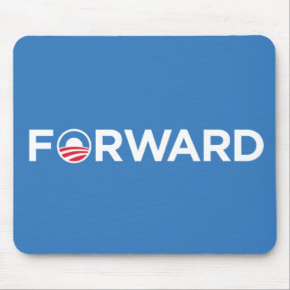 Obama Biden 2012 Forward (White on Light Blue) Mouse Pad