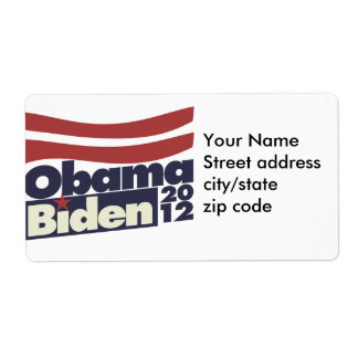 Obama Biden 2012 Label