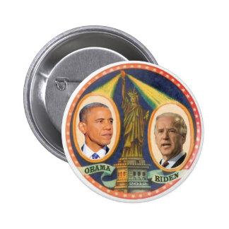Obama Biden 2012 Lady LIberty 2 Inch Round Button
