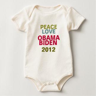 OBAMA BIDEN 2012 Peace And Love Baby Baby Bodysuit
