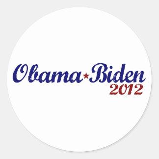 Obama Biden 2012 Etiqueta Redonda