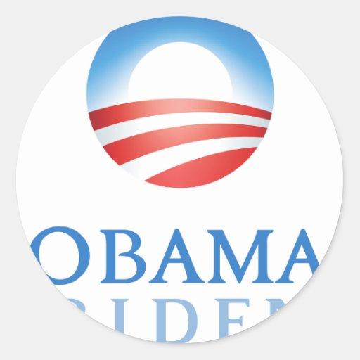 Obama Biden 2012 Pegatina Redonda