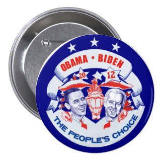 Obama Biden 2012 Pin Redondo De 3 Pulgadas