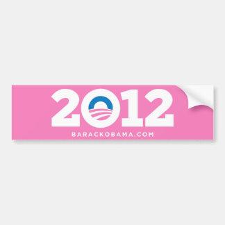 Obama Biden 2012 (Pink) Bumper Sticker