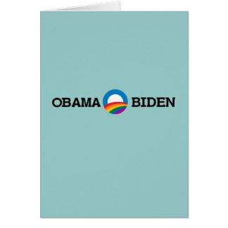 Obama Biden 2012 Pride - Greeting Card