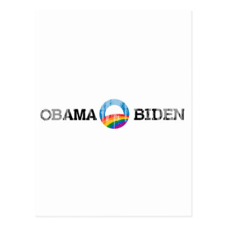 Obama Biden 2012 Pride Sticker Vintage.png Postcard