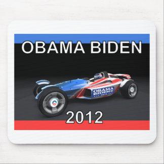 Obama Biden 2012 Racing Car Mouse Pad