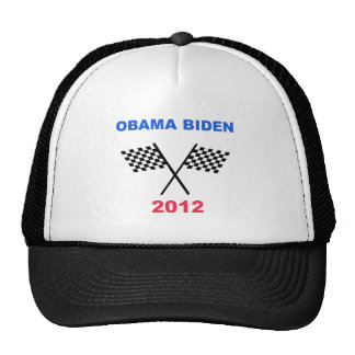 Obama Biden 2012 Racing Flag Winner Trucker Hat