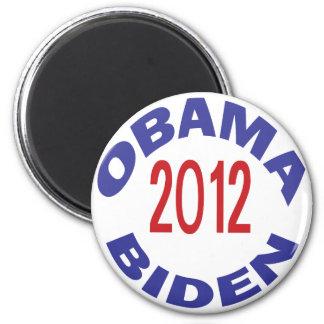 Obama - Biden 2012 redondos Imán De Frigorífico