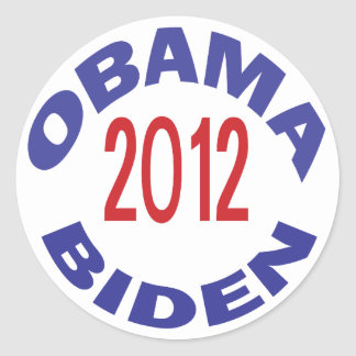 Obama - Biden 2012 redondos Pegatinas Redondas